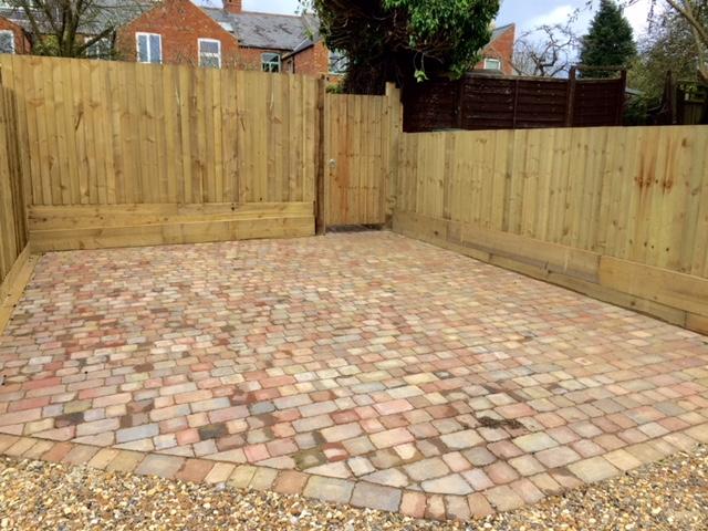 Garden block paving
