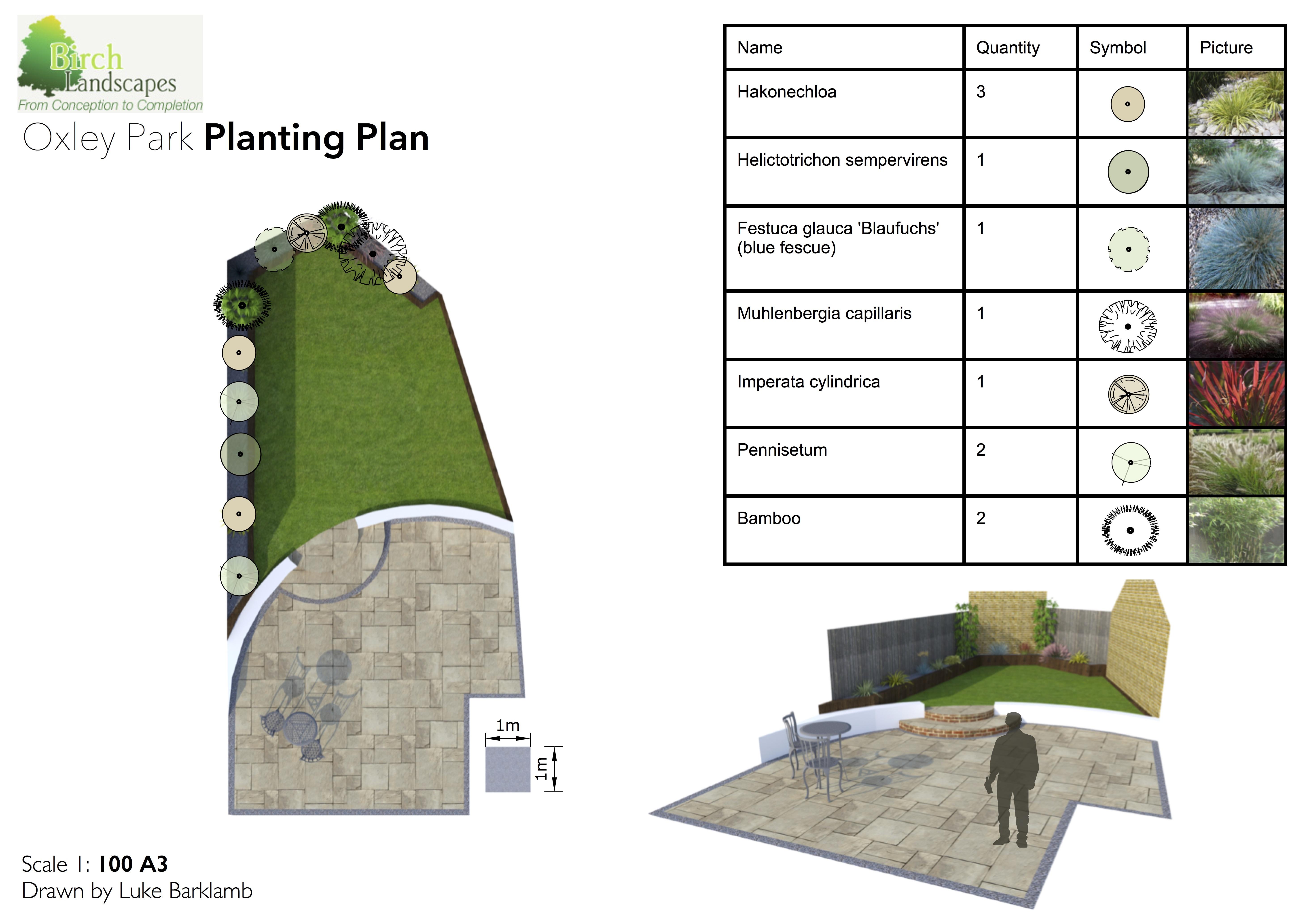 Planting Plan in Milton Keynes